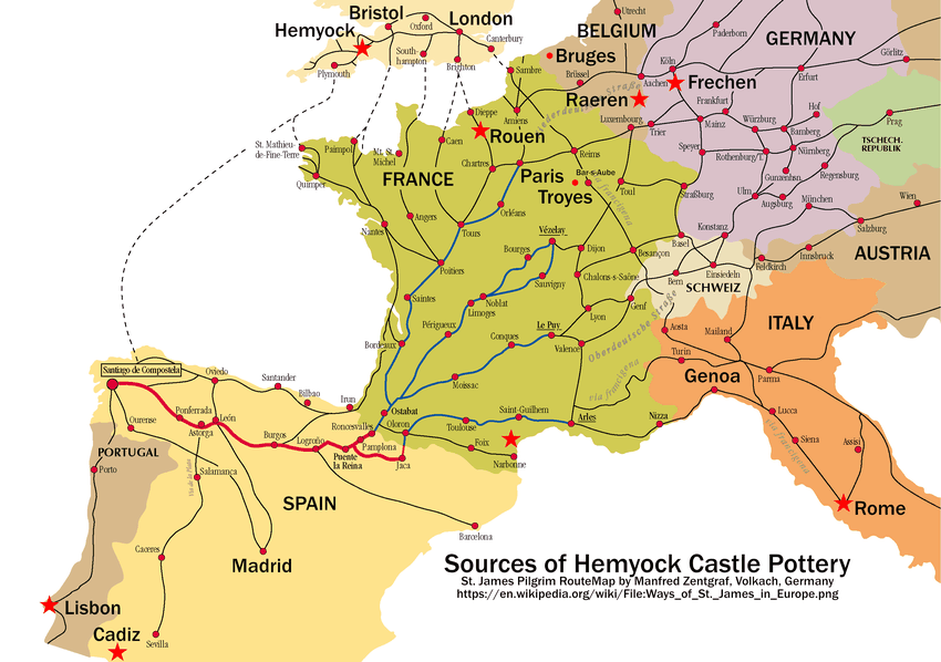 Map Of England 850.Centuries Of Deep Historic Links With Continental Europe Pottery