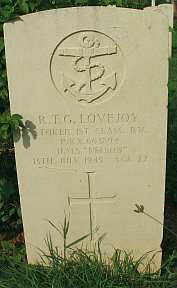 Photo: Grave of RN Stoker 1st class Lovejoy near Trincomalee, Eastern Sri Lanka, November 2004.