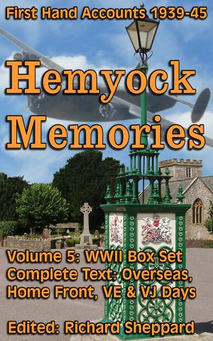 Cover: Hemyock's Memories of War Book