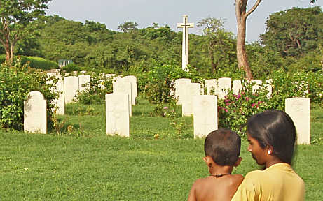 Photo: Well kept Commonwealth War Cemetery near Trincomalee, Eastern Sri Lanka, November 2004