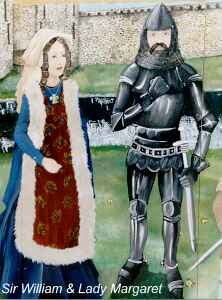 Sir William and Lady Margaret at Hemyock Castle